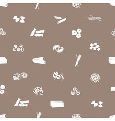 Types of pasta food pattern eps10 vector