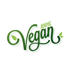 Vegan vintage lettering on white background vector