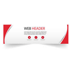 web header abstract red curve design image vector image