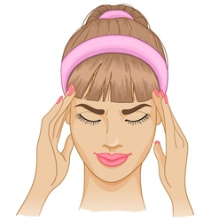 Woman with headache vector