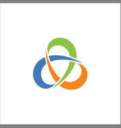 circle colored abstract logo vector image vector image