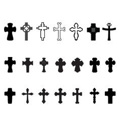 crosses 2 vector image vector image