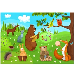 forest concert vector image