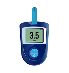 modern electronic device that shows sugar level in vector image