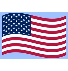 National political official US flag on a white vector image vector image