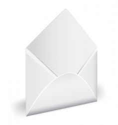 open empty envelope with letter vector image