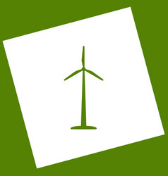wind turbine logo or sign white icon vector image vector image