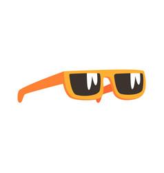 yellow sunglasses cartoon vector image vector image
