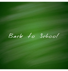 Back to School Green Chalkboard Background vector image