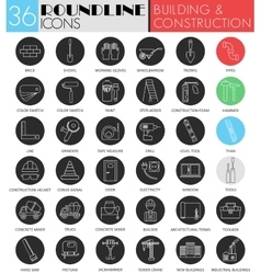 building and construction circle white vector image