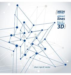 Dimensional tech polygonal construction figure vector image vector image