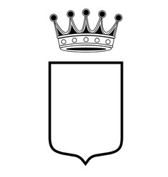 family shield template with crown vector image