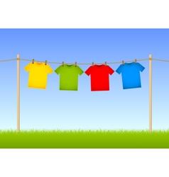 Hung T-shirts vector image