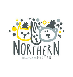 nothern logo template original design badge for vector image vector image
