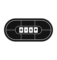 Poker table black simple icon vector image vector image