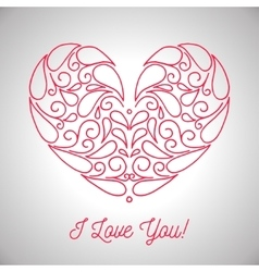 Valentines day ornamental heart vector image