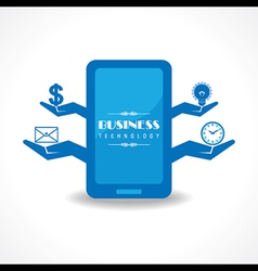Business technology concept with mobile vector image vector image
