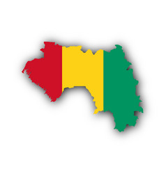 map and flag of guinea vector image vector image