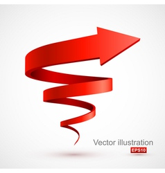 Red spiral arrow 3D vector image