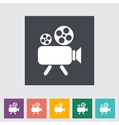 Videocam vector image vector image