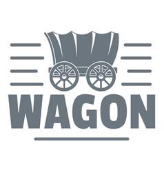 wagon logo vintage style vector image