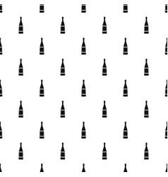 glass bottle pattern vector image vector image