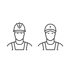 Set of builders line icons vector image