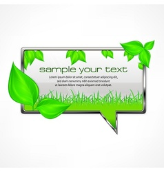 Speech bubble with green vector image