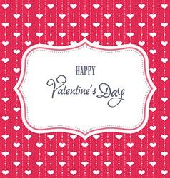 Sweet valentine card vector image