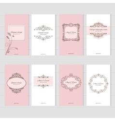Vintage card templates set vector image vector image