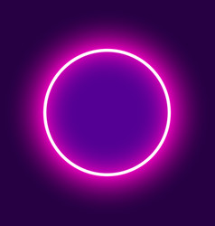 Abstract background neon round vector