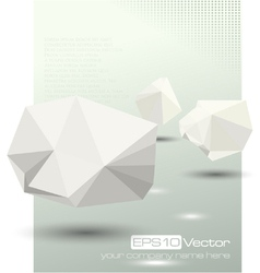 Abstract modern depth of field business design vector image