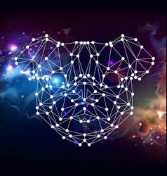 Abstract polygonal tirangle animal pug-dog vector