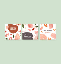 Advertise template with shopping design vector