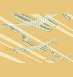 air transport in sky travel background vector image