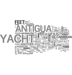 antigua weather text word cloud concept vector image