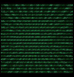 Binary code zero one matrix green background vector