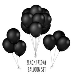 black friday flight rubber balloons bouquet vector image