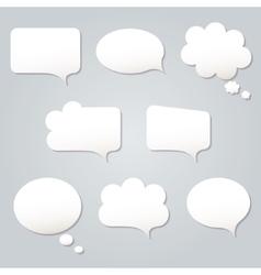 Blank empty white speech bubbles vector