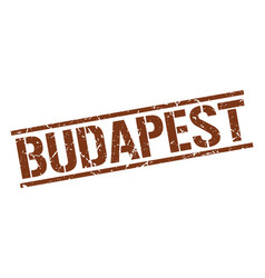 budapest brown square stamp vector image
