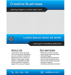 Business multipurpose flyer template - blue vector image