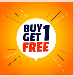 Buy one get one free stylish sale banner vector
