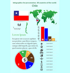chile infographics for presentation all vector image