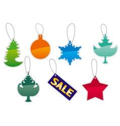 Christmas labels set vector image