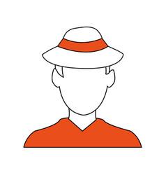 color silhouette image cartoon faceless half body vector image