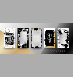 Creative card invitation frame for text quote vector