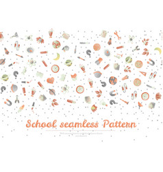 Cute cartoon back to school and college fun vector