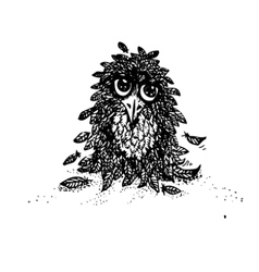 Cute owl doodles Hand drawnCute vector image