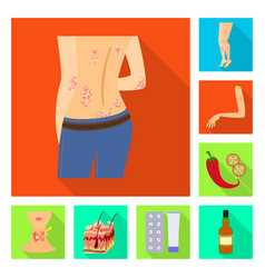 Design dermatology and disease sign vector