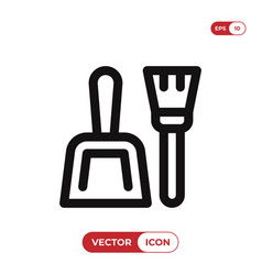 dustpan icon vector image